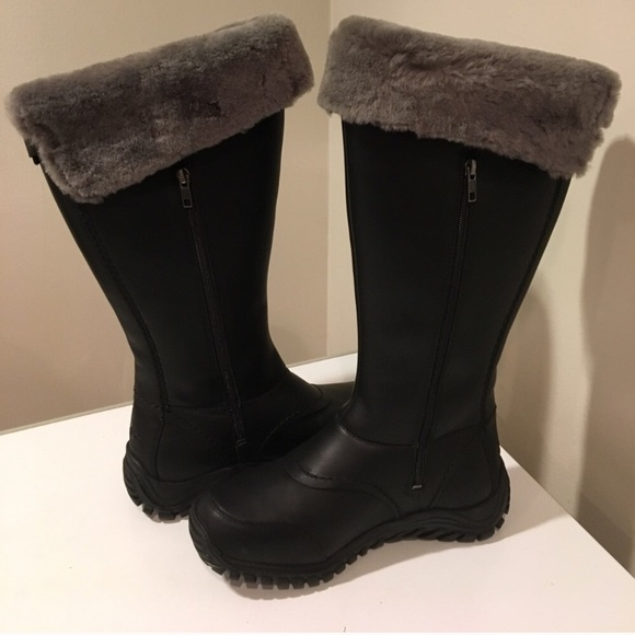 bdbb18e9e07 🔥🔥New Ugg Miko black leather Tall boots ❤️SALE NWT
